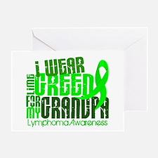 I Wear Lime 6.4 Lymphoma Greeting Card