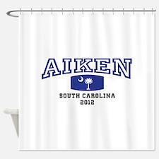 Aiken South Carolina, SC, Palmetto Flag Shower Cur