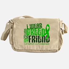 I Wear Lime 6.4 Lymphoma Messenger Bag