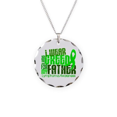 I Wear Lime 6.4 Lymphoma Necklace Circle Charm