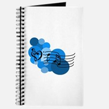 Blue Music Clefs Heart Journal