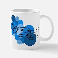Blue Music Clefs Heart Mug