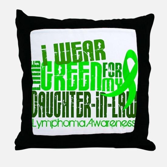 I Wear Lime 6.4 Lymphoma Throw Pillow