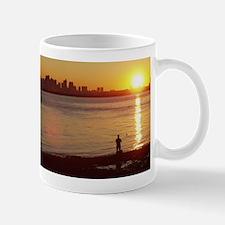 Fisherman and Boston Skyline Mug