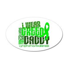 I Wear Lime 6.4 Lymphoma 22x14 Oval Wall Peel