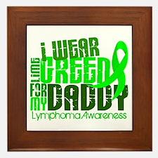 I Wear Lime 6.4 Lymphoma Framed Tile