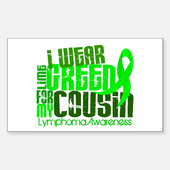 I Wear Lime 6.4 Lymphoma Sticker (Rectangle)
