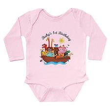 1st Birthday Noah's Ark Long Sleeve Infant Bodysui