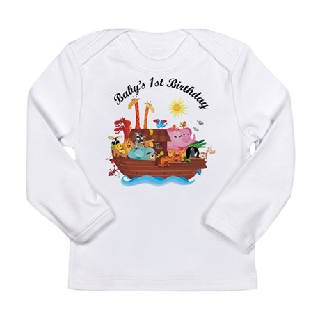 1st Birthday Noah's Ark Long Sleeve Infant T-Shirt