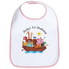 1st Birthday Noah's Ark Bib