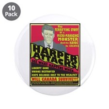 "Harper Attacks / 3.5"" Button (10 pack)"