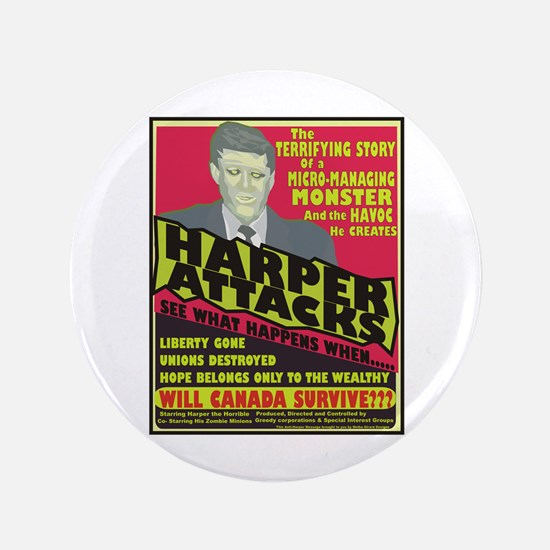 "Harper Attacks / 3.5"" Button"