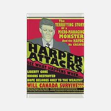 Harper Attacks / Rectangle Magnet