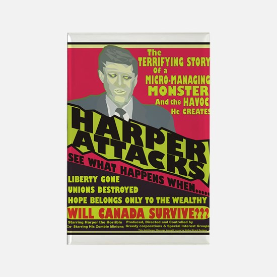 Harper Attacks / Rectangle Magnet