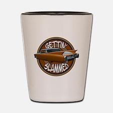slammed 1960 Cadillac lowride Shot Glass