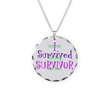 I Survived Survivor Necklace Circle Charm