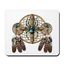Labradorite Spider Dreamcatcher Mousepad
