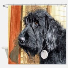 Black Labradoodle Ralph Shower Curtain