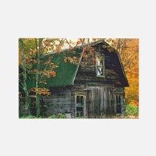 Autumn Barn Rectangle Magnet