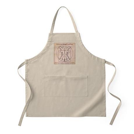 Vitruvian Gingerbread Man Apron