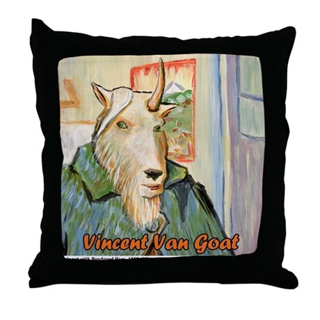 Vincent Van Goat Throw Pillow