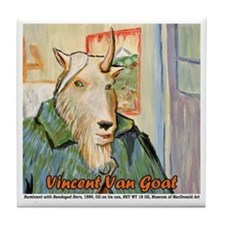 Vincent Van Goat Tile Coaster