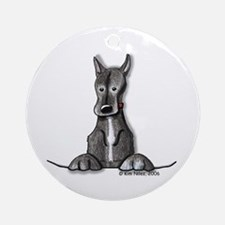 Black Gr8 Dane Ornament (Round)