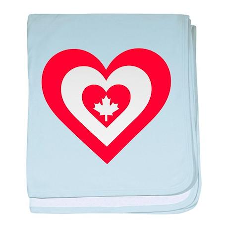 Canada Heart baby blanket