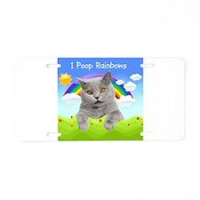 I Poop Rainbows Cat Aluminum License Plate