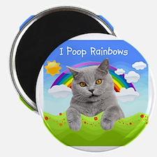 """I Poop Rainbows Cat 2.25"""" Magnet (100 pack)"""