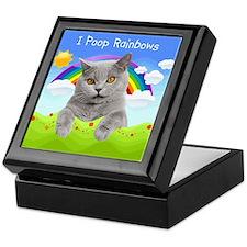 I Poop Rainbows Cat Keepsake Box