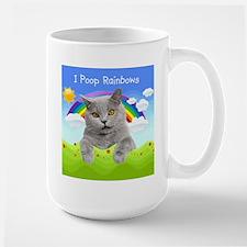 I Poop Rainbows Cat Mug