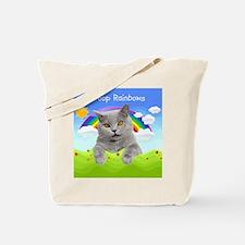 I Poop Rainbows Cat Tote Bag