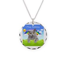 I Poop Rainbows Cat Necklace