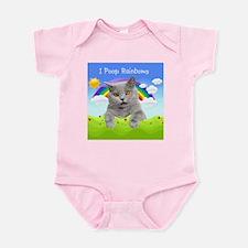 I Poop Rainbows Cat Infant Bodysuit