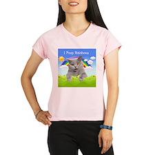 I Poop Rainbows Cat Performance Dry T-Shirt
