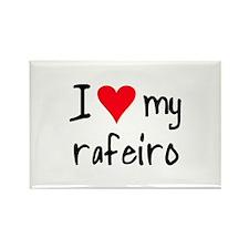 I LOVE MY Rafeiro Rectangle Magnet