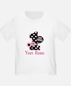 1st Birthday Pink and Black D T