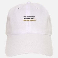 """Slippery Slope"" Baseball Baseball Cap"