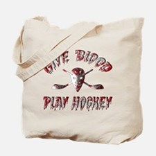 Give Blood Play Hockey Tote Bag