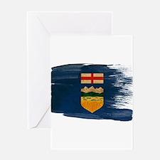 Alberta Flag Greeting Card