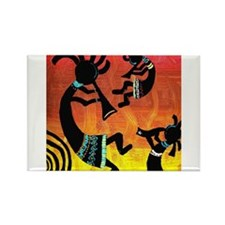 Dance of the Kokopelli Rectangle Magnet