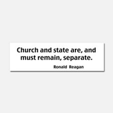 Church And State Car Magnet 10 x 3