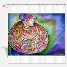 African, woman, colorful, Shower Curtain