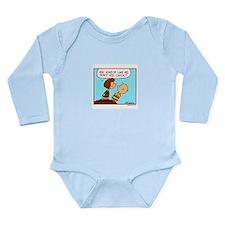 He Likes Me! Long Sleeve Infant Bodysuit