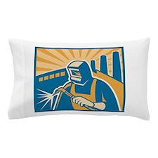 Welder Welding Factory Pillow Case