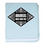 Arkansas Girls Kick Ass baby blanket