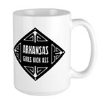 Arkansas Girls Kick Ass Large Mug