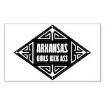 Arkansas Girls Kick Ass Sticker (Rectangle)