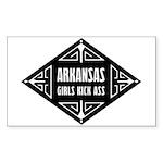 Arkansas Girls Kick Ass Sticker (Rectangle 50 pk)